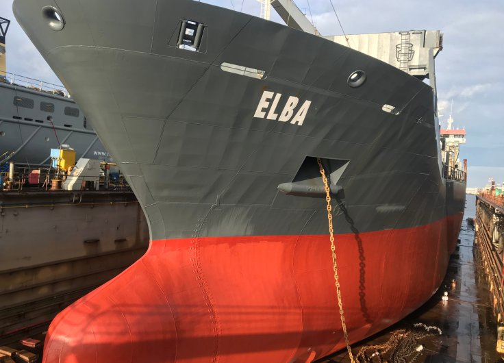Impressions from our MV ELBA in drydock